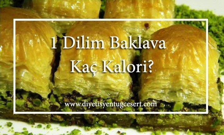 baklava kaç kalori