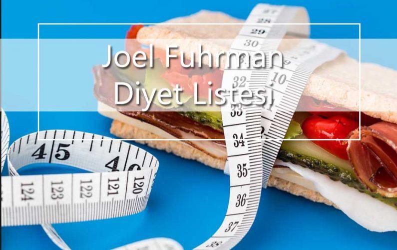 Joel Fuhrman Diyeti Listesi