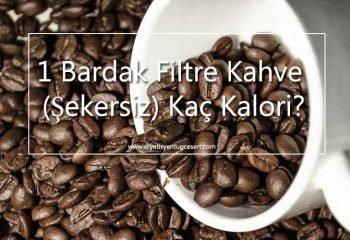 filtre kahve kalorisi